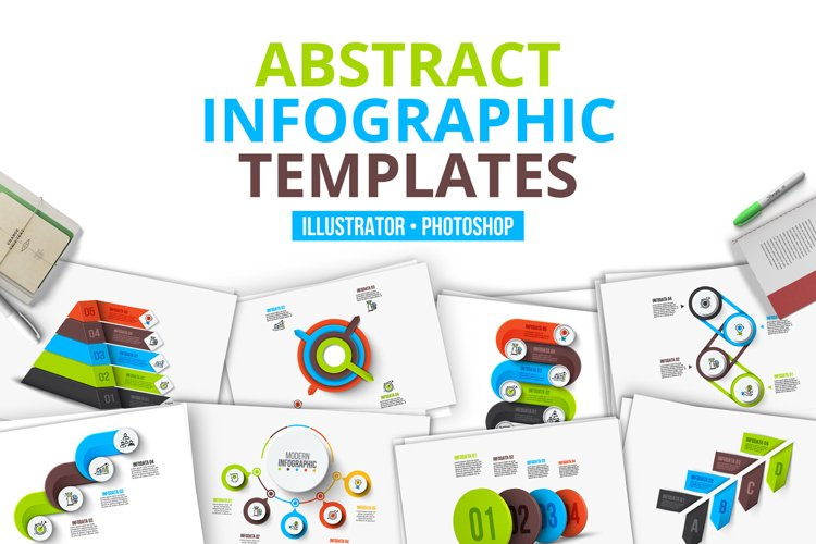 Abstract infographic templates example image 1