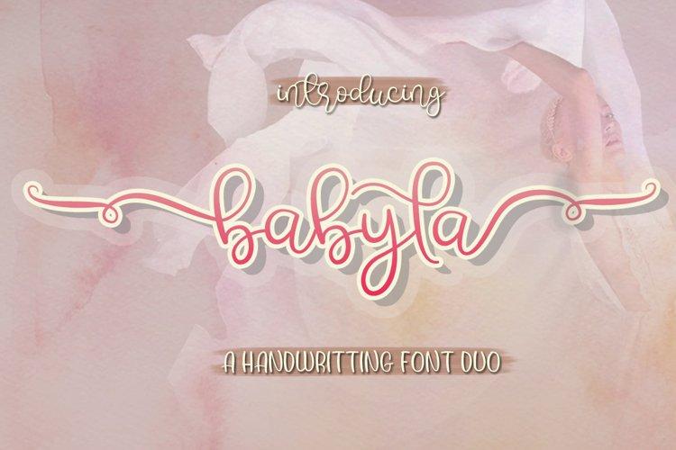 Babyla | 2 Font example image 1