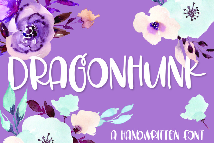 Dragonhunk - A Handwritten Font example image 1