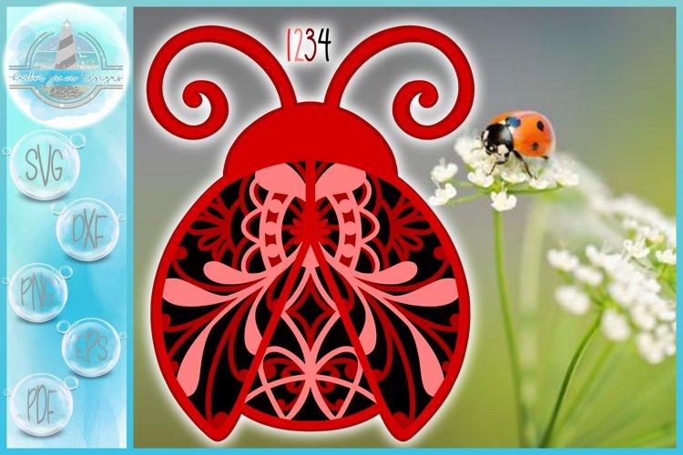 3D SVG Layered Design   3D Ladybug Mandala   3D Mandala SVG