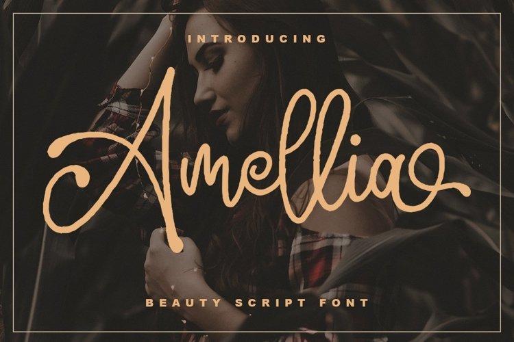 Web Font Amellia example image 1