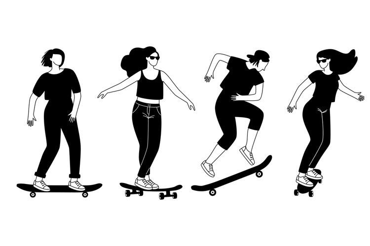 Street longboards silhouettes