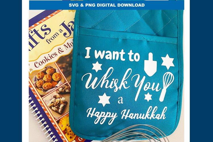 I want to whisk you a Happy Hanukkah SVG Pot Holder Design