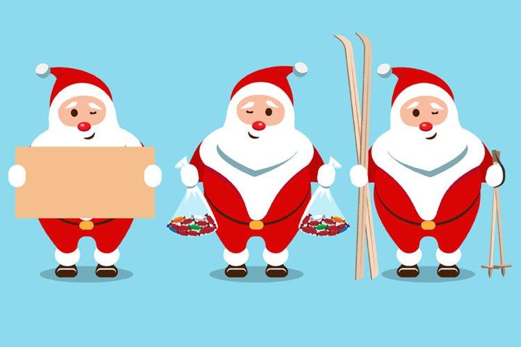 Santa Claus Christmas character set of 8 illustrations example 3