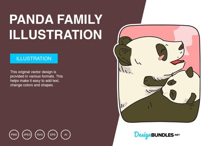 Panda Family Vector Illustration example image 1