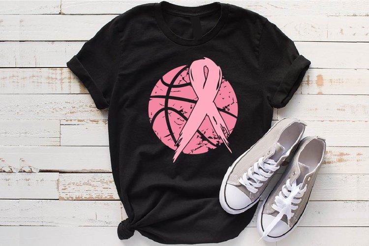 Basketball Tackle Breast Cancer Svg Awareness ribbon 1019s example image 1