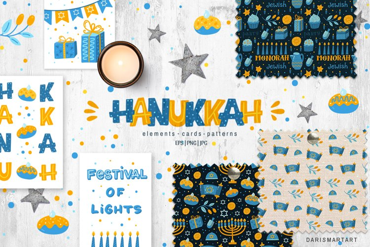 Hanukkah Jewish holiday design