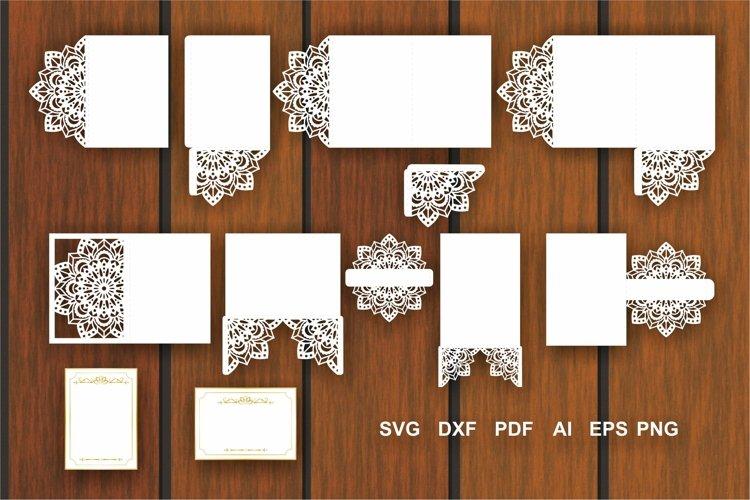 Mandala Invitation Templates, Envelope Svg, Invitation Card
