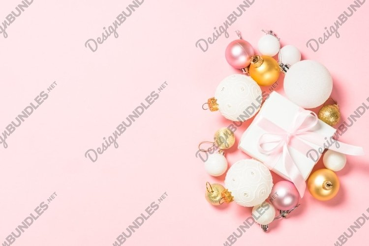 Christmas background at pink example image 1