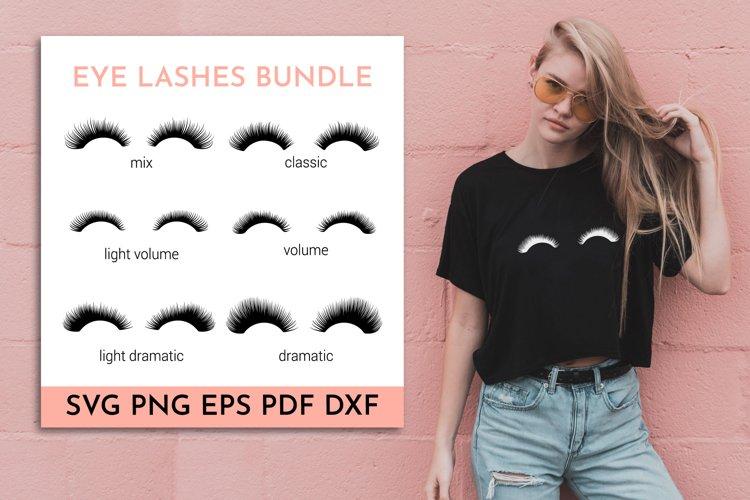 Eyelashes SVG Bundle. Eye lashes SVG. Eyes SVG. Fake lashes