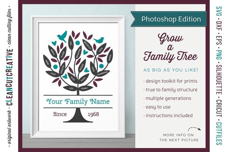 FAMILY TREE creator Photoshop edit toolkit design template example image 1
