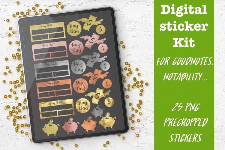 Finances & Budgeting Digital planner sticker Kit for Goodnot