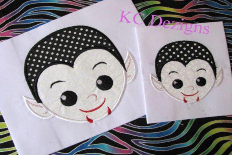 Vampire Boy Machine Applique Embroidery Design