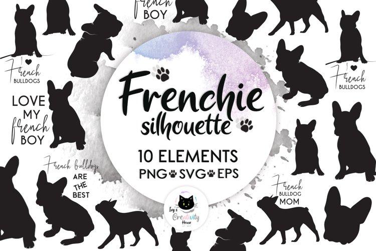Frenchie, Dog Svg, Dog Silhouette, French Bulldog Svg example image 1