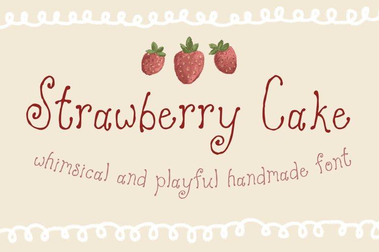 Strawberry Cake Whimsical Font example image 1