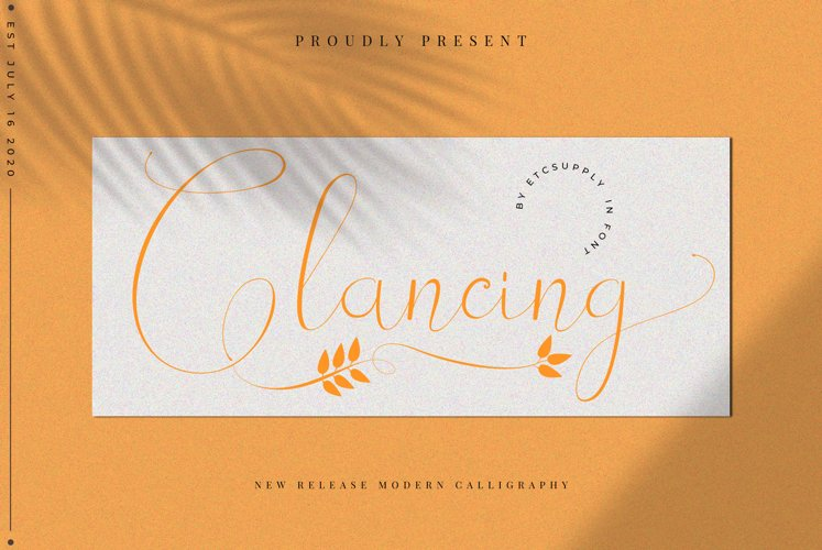 Glancing | 1 Font 2 Style example image 1
