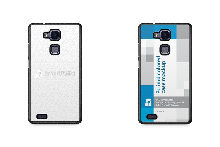 Huawei Mate 7 2d IMD Colored Mobile Case Design Mockup 2014 example image 1