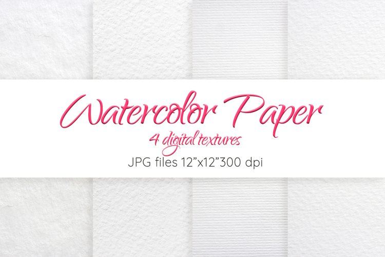 Watercolor paper texture Digital paper Paper background example image 1