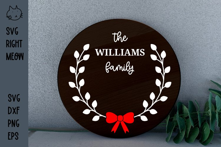 Family Monogram Wreath SVG Farmhouse Sign SVG
