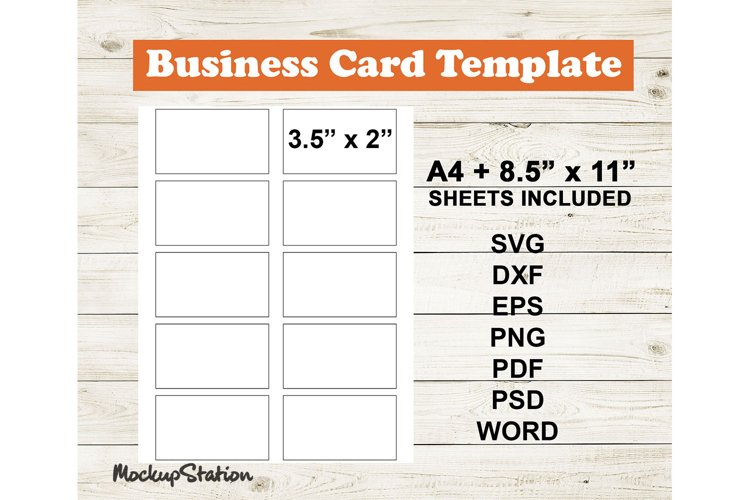 Business Card Template SVG, Blank Label DXF Cut File