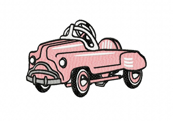 RETRO Pedal Car in 2 sizes example image 1