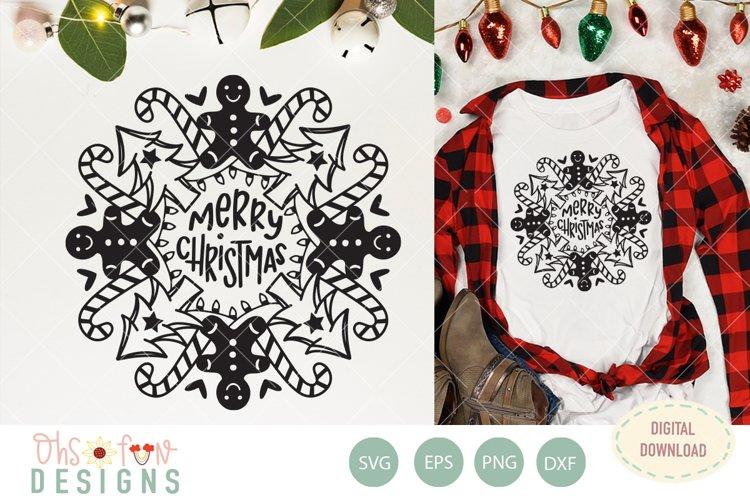 Christmas tree mandala, Merry Christmas, svg file