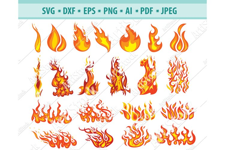 Fire SVG, Flames SVG, Fire Flame Svg, Dangers Dxf, Png, Eps