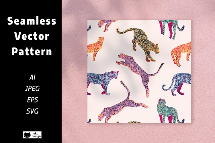 Leopard Vector Seamless Pattern example image 1