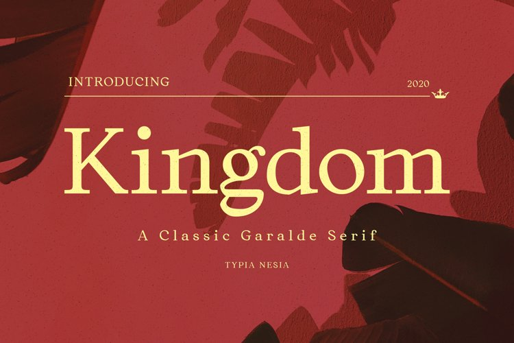 Kingdom - Classic Garalde Serif example image 1