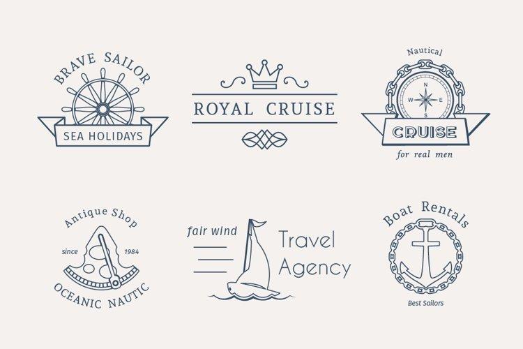 6 Retro Nautical Logo Templates example image 1