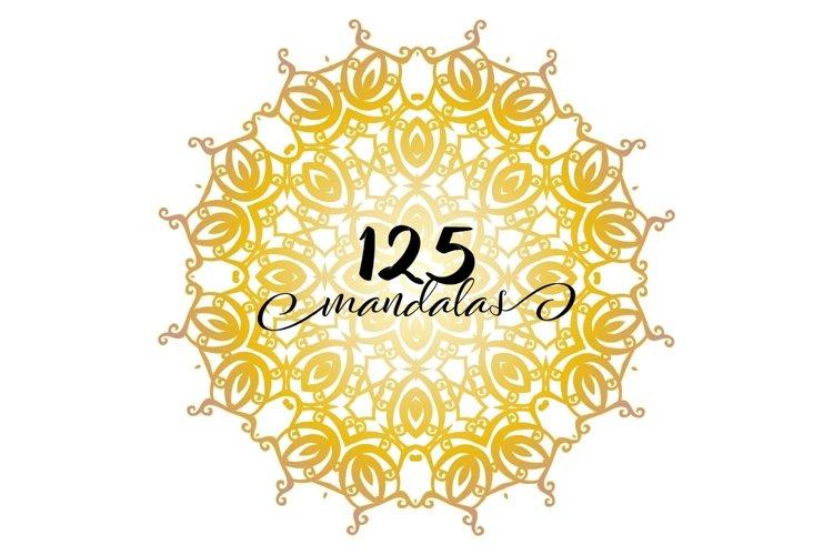 125 Vector Mandala Design -Mandala Svg Cut File example image 1