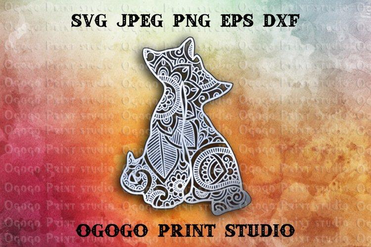 3D Layered Cats Mandala Svg, Zentangle SVG, Pet lover Svg