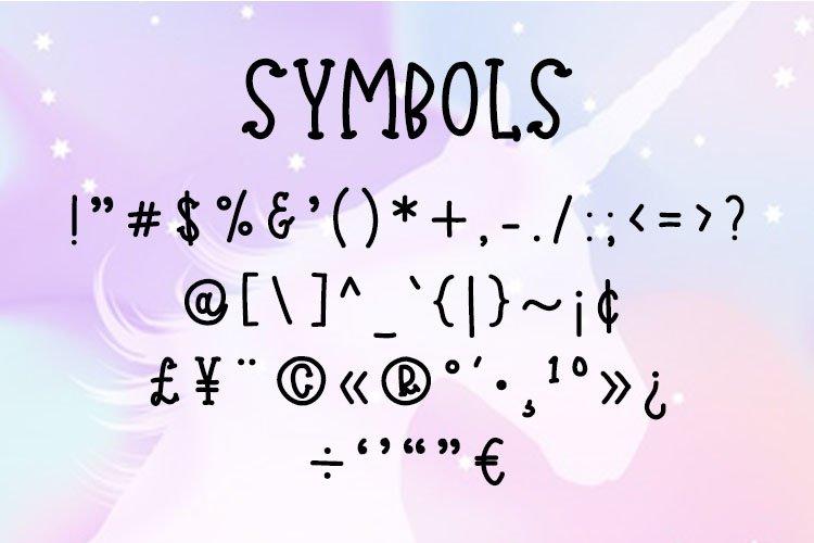 Jolly Unicorn A playful handmade typeface example 2