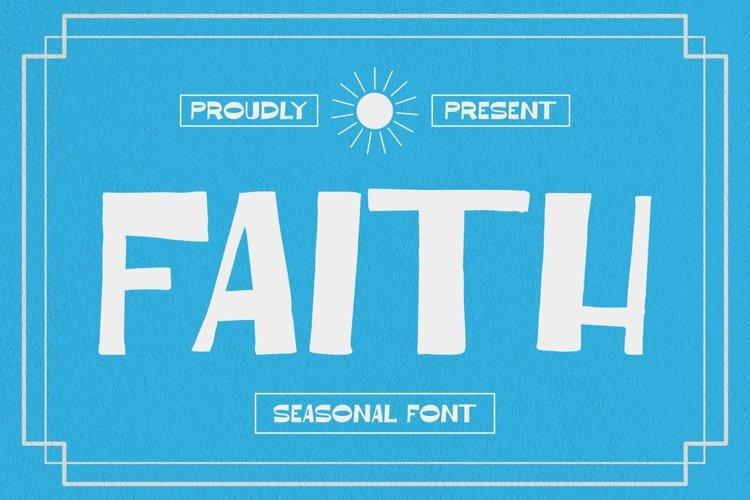 Web Font Faith Font example image 1