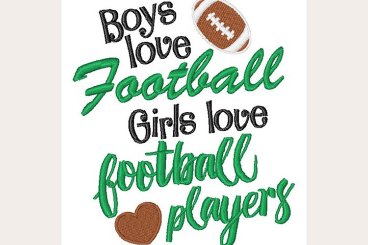Love Football - Machine Embroidery Design example image 1