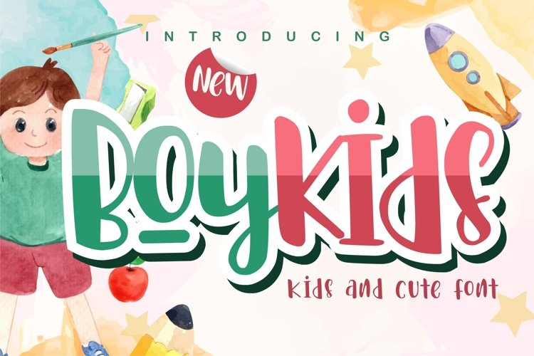 Boykids- Kids And Cute Font example image 1