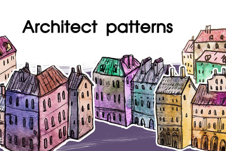 Watercolor architectural patterns