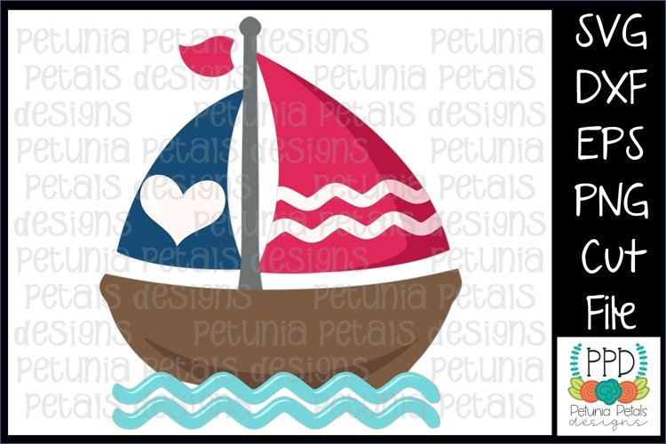 American Flag Sailboat SVG 11272 example image 1