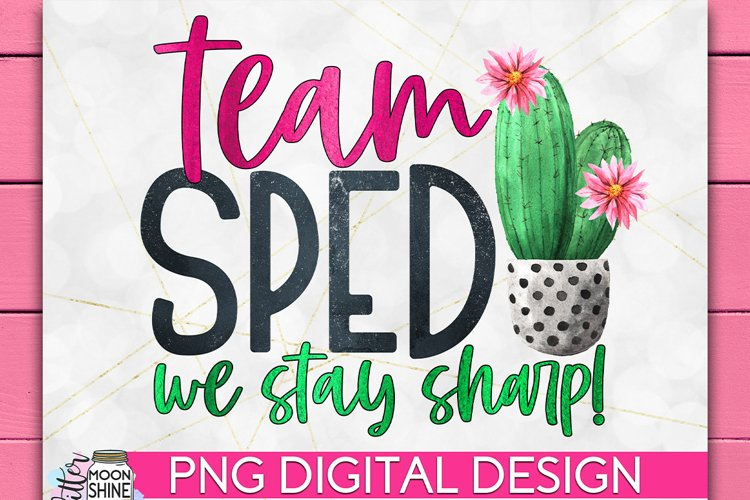 Team SPED Special Education Teacher PNG Sublimation