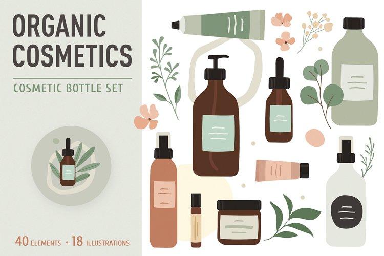 Organic Cosmetic. Bottle Plants