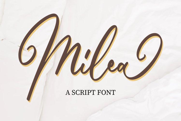 Milea - Script Font example image 1