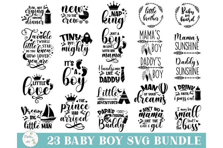 Baby SVG Bundle, Baby Boy Bundle, Baby svg, Baby Quote