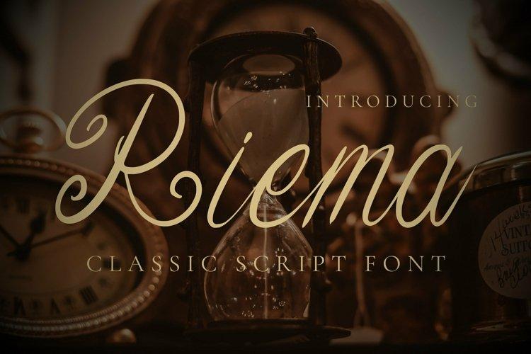 Web Font Riema Font example image 1
