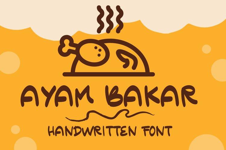 Ayam Bakar - Handwritten Font example image 1