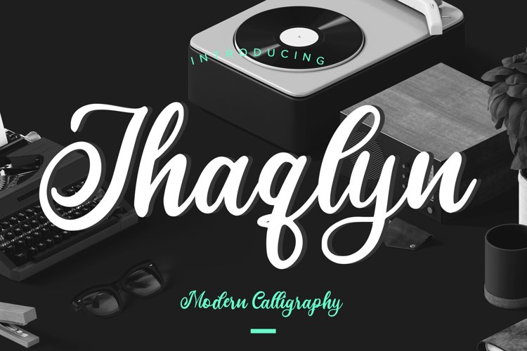 Jhaqlyn Modern Calligraphy example image 1