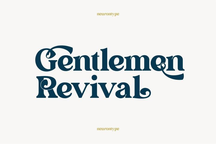 Gentlemen Revival example image 1