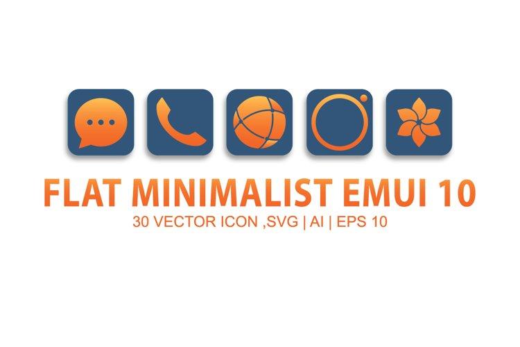 MINIMALIST FLAT EMUI 10
