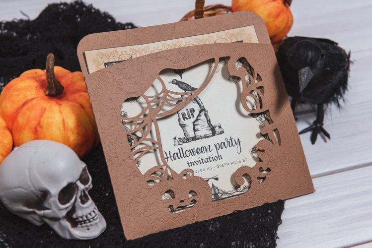 Halloweens Night Envelope Invitation cutting file example image 1