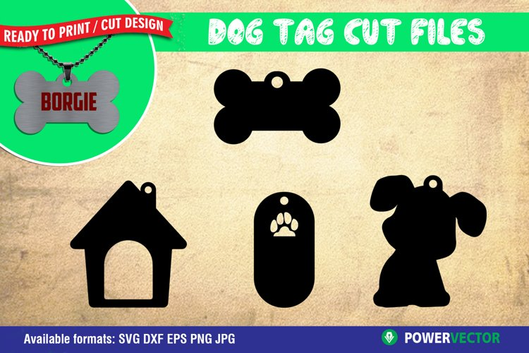 Dog Tag SVG| Product Tag Cut Files Dxf EPS PNG Files