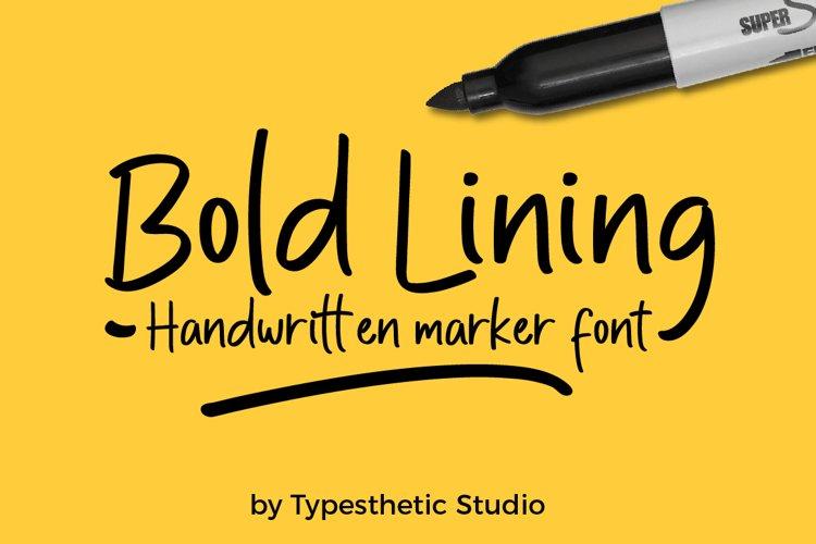 Bold Lining Handwritten Marker example image 1